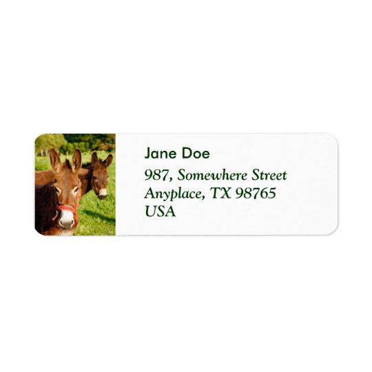 Donkeys Return Address Label