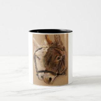 Donkeys Two-Tone Coffee Mug