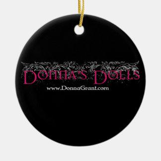 Donna's Dolls Round Ceramic Decoration
