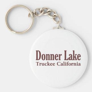 Donner Lake Basic Round Button Key Ring