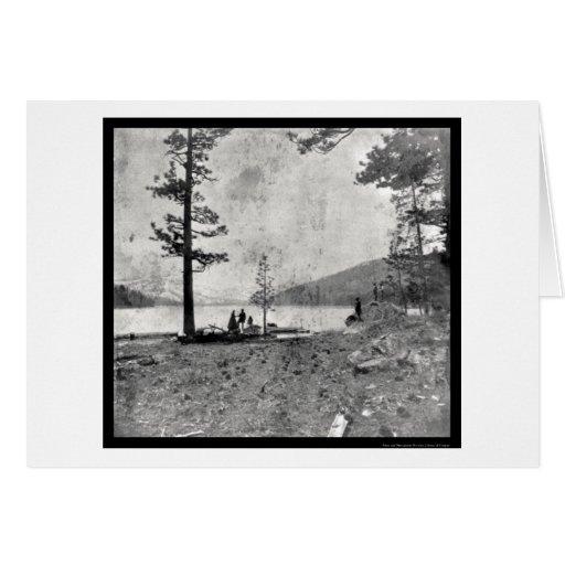 Donner Lake, CA Daguerreotype 1852 Card