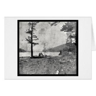 Donner Lake, CA Daguerreotype 1852 Greeting Card