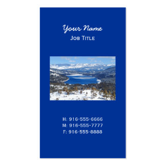 Donner Lake California Business Card