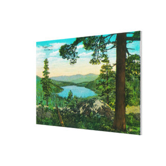 Donner Lake, California from Ridge Stretched Canvas Print
