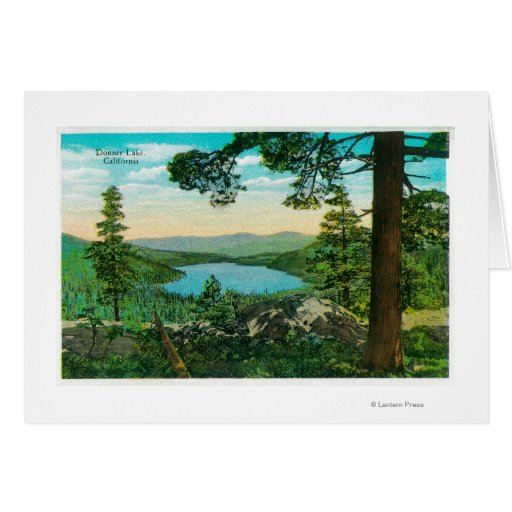 Donner Lake, California from Ridge Greeting Card