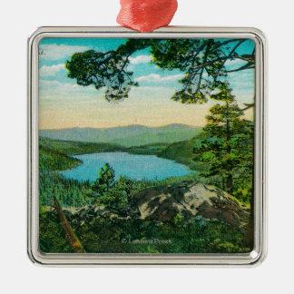Donner Lake, California from Ridge Christmas Ornament