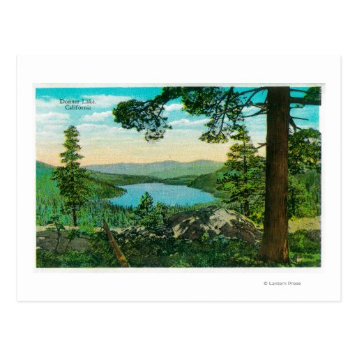 Donner Lake, California from Ridge Post Cards