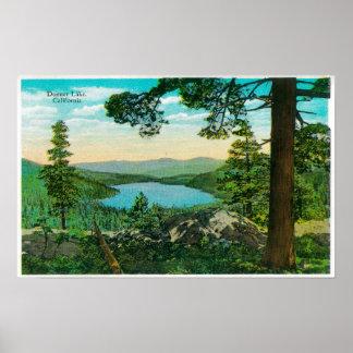 Donner Lake, California from Ridge Poster
