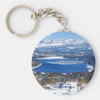Donner Lake California Keychaiin Basic Round Button Key Ring