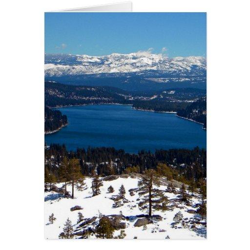 Donner Lake High Sierras Card
