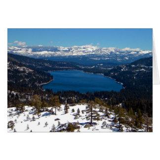Donner Lake High Sierras Greeting Card