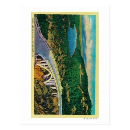 Donner Memorial Bridge and Postcards