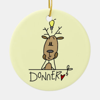 Donner Reindeer Christmas T-shirts and Gifts Round Ceramic Decoration