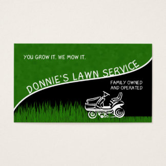 Donnie's Lawn Service Business Card