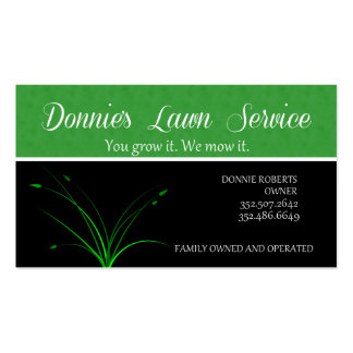 Donnie's Lawn Service Business Card Template
