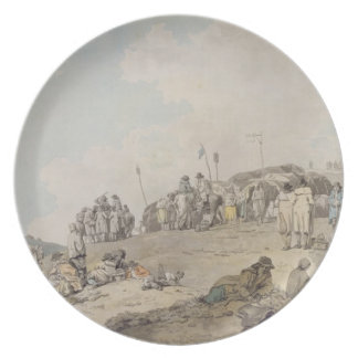 Donnybrook Fair, 1782 (pen, ink and w/c on paper) Party Plate