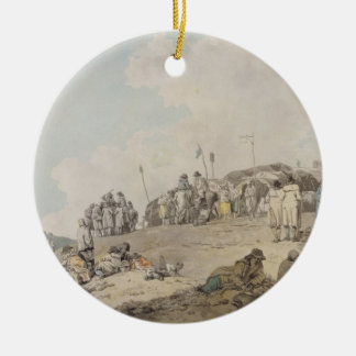 Donnybrook Fair, 1782 (pen, ink and w/c on paper) Round Ceramic Decoration
