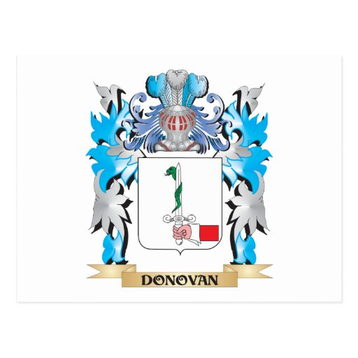 Donovan Coat of Arms - Family Crest Post Cards