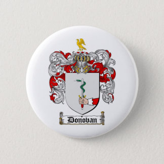 DONOVAN FAMILY CREST -  DONOVAN COAT OF ARMS 6 CM ROUND BADGE