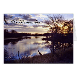 Donslough h, We Remember Greeting Card