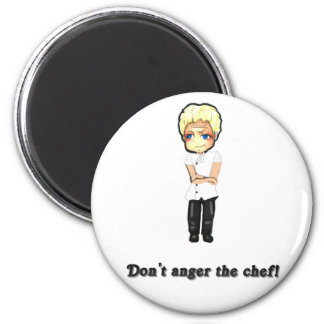 Don't Anger the Chef! 6 Cm Round Magnet