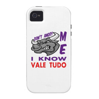 Don't angry me, i know Vale Tudo. Vibe iPhone 4 Cover