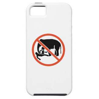 Don't Approach the Elephants Sign, UK iPhone 5 Covers