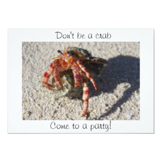 Don't be a crab, Come to a party! Card