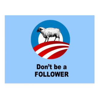 Don't be a follower postcards
