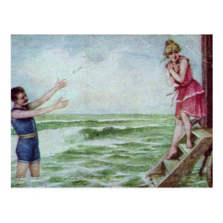 Don't Be Afraid 1910 Bathing Suits Postcard