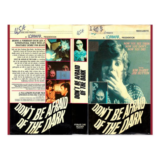 DON'T BE AFRAID OF THE DARK RETRO VHS POSTCARD