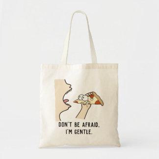don't be afraid, pizza bag