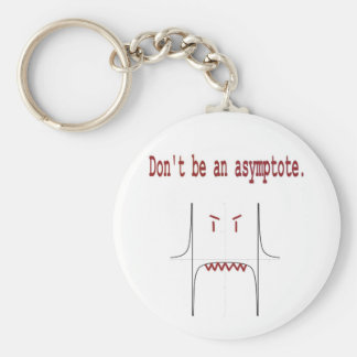 Don't be an asymptote. basic round button key ring
