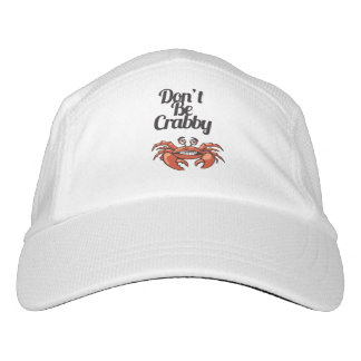 """""""Don't Be Crabby"""" Typography with Cute Crab Hat"""