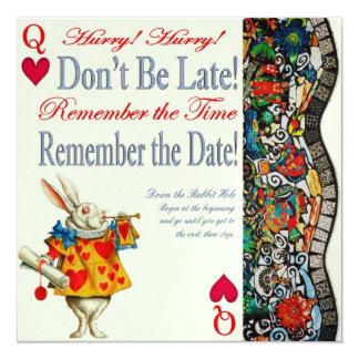 Don't Be Late! 13 Cm X 13 Cm Square Invitation Card