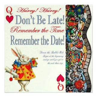 Don't Be Late! Custom Invitation