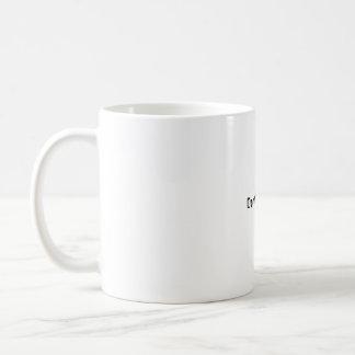 Don't be late !! basic white mug