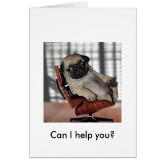 Don't be Pugnacious! Greeting Card