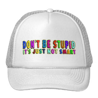 DON'T BE STUPID MESH HAT