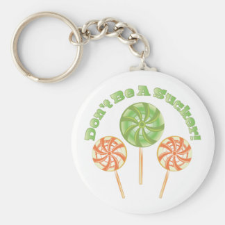 Dont Be Sucker Basic Round Button Key Ring