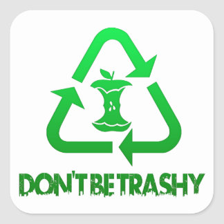 Don't Be Trashy Earth Day Stickers