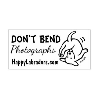 Don't Bend Labrador Rubber Stamp