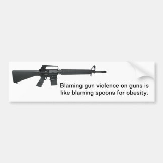 Don't Blame Guns Bumper Sticker