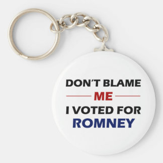 Don't Blame Me Basic Round Button Key Ring
