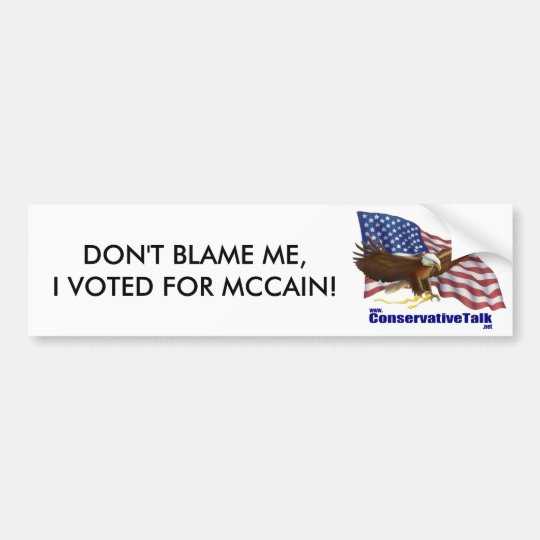 Don't Blame Me! Bumper Sticker