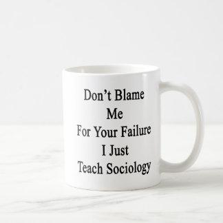 Don't Blame Me For Your Failure I Just Teach Socio Mug