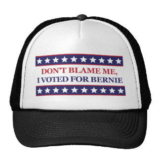 Don't blame me I voted for Bernie Cap