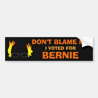 Don't Blame Me I Voted for Bernie Fiery Hair Bumper Sticker