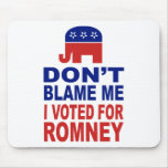 Don't Blame Me I Voted For Romney