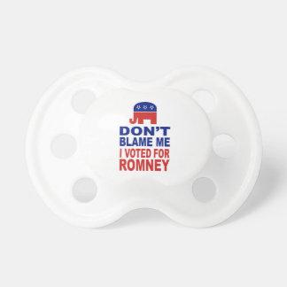 Don't Blame Me I Voted For Romney Dummy